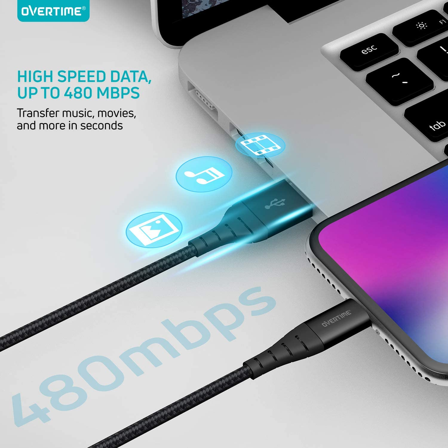 Apple MFi Certified Lightning Cable Rose Gold AirPods//Pro Braided Nylon High-Speed Cable for iPhone 11//11 Pro//11 Pro Max//X//XS//XR//XS Max//8//7//6//5S//SE iPad Mini//Air iPhone Charger 10ft