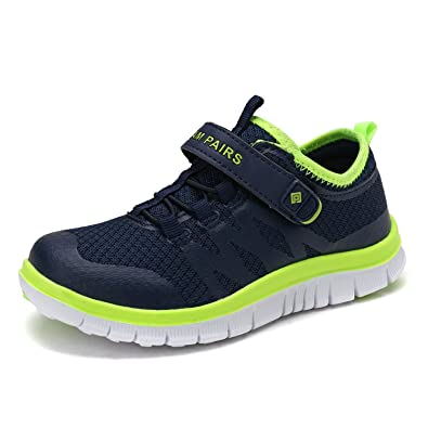 1d182d1f9 DREAM PAIRS Little Kid 160863-K Navy Lemon Green Athletic Running Shoes  Sneakers Size 2