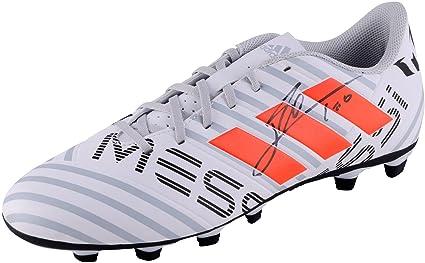 10d7476df0c Lionel Messi Barcelona Autographed White   Red Nemeziz 17.4 Cleat - Fanatics  Authentic Certified - Autographed