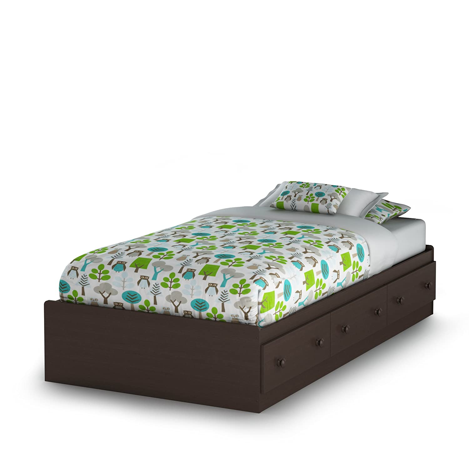 South Shore Furniture Savannah Collection, Twin Bed, Espresso 3519A1