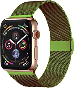 Pigetfy Compatible for Apple Watch Band 40mm 44mm Series 6, Series 5,Series 4,Series 3,Series 2,Series 1,Series SE and Wristband for Iwatch 38mm 42mm (Green, 42mm/44mm)