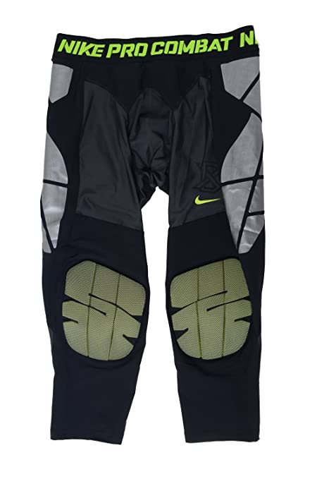 07a06e9a53405 Nike Men's Pro Hyperstrong Baseball Slider Tights (XX-Large, Black/Volt)