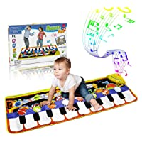 RenFox Kids Musical Mats, Music Piano Keyboard Dance Floor Mat Carpet Animal Blanket...