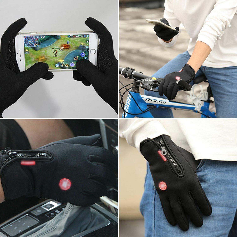 Logtronik Gants de Cyclisme d/'Ext/érieur Gants d/'Hiver Antid/érapant Chauffant avec Eran Tacile pour Homme et Femme Cyclisme Sport d/'Ext/érieur M