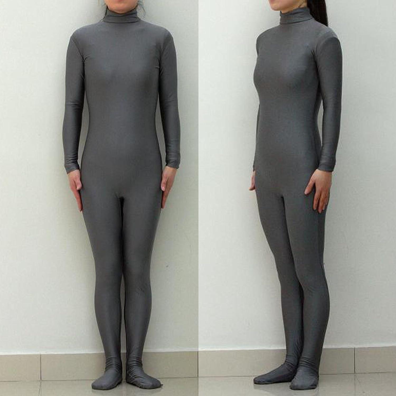 Dunkel grau hoch elastische einteiligen Trikots/Tanzkostüme