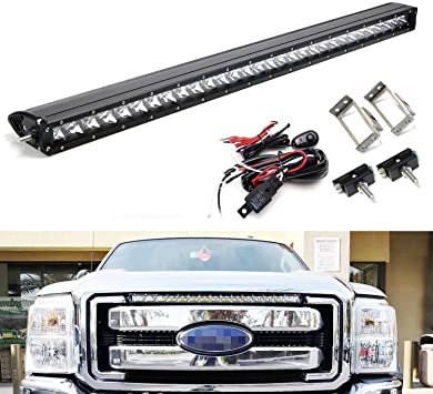 ford f350 headlight switch wiring amazon com ijdmtoy upper grille mount 30 inch led light bar  ijdmtoy upper grille mount 30 inch led