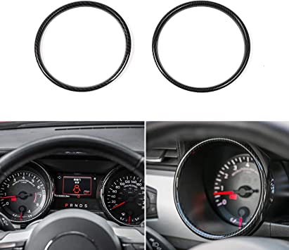 Amazon Com Car Instrument Panel Dashboard Decoration Ring Cover Trim Interior Accessories For Ford Mustang 2015 2017 Carbon Fiber Grain Automotive