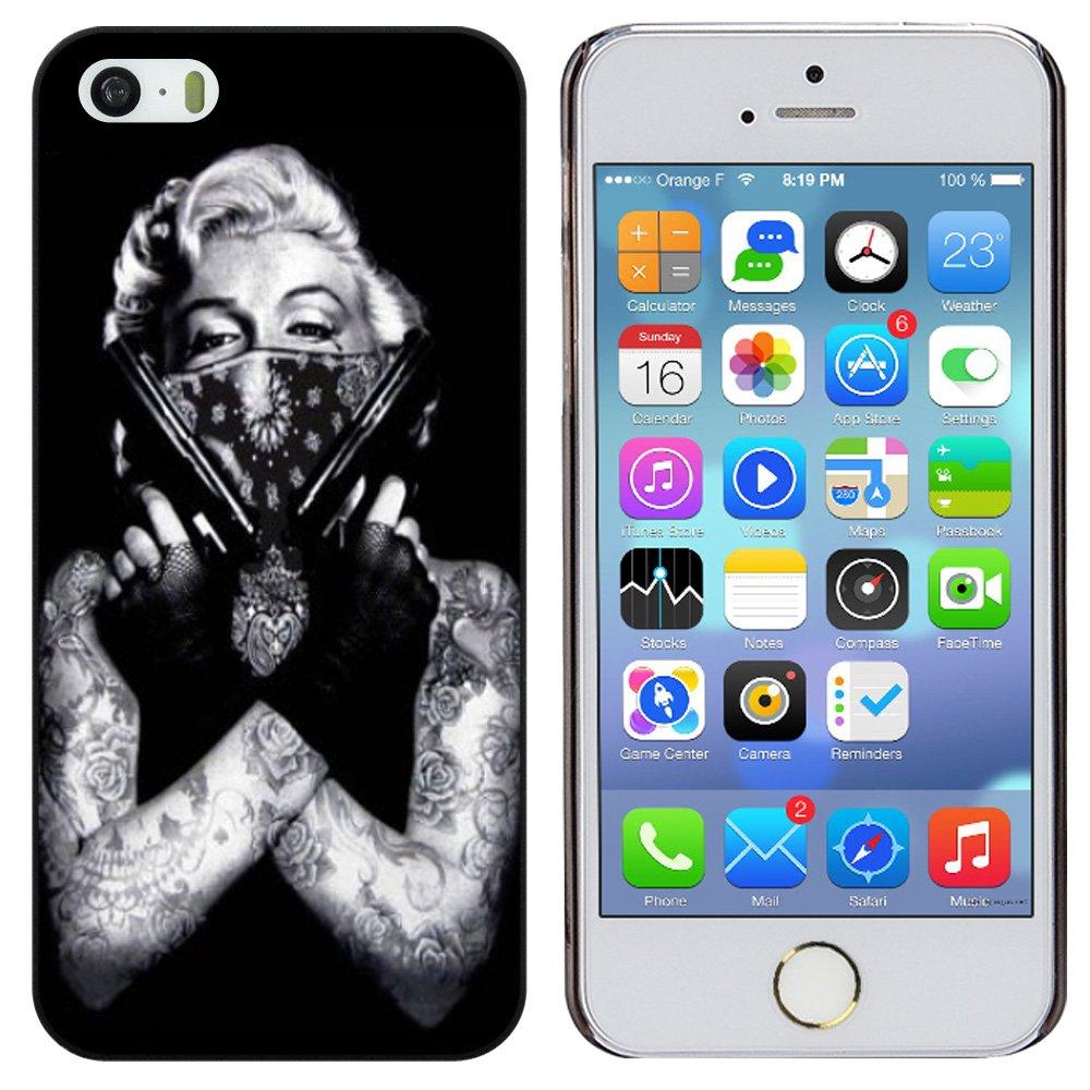 H & F tatuaje de Marilyn Monroe con el modelo de pistola de ...