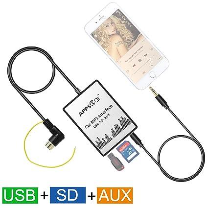 apps2car tarjeta SD USB 3,5 mm AUX entrada jack coche ...