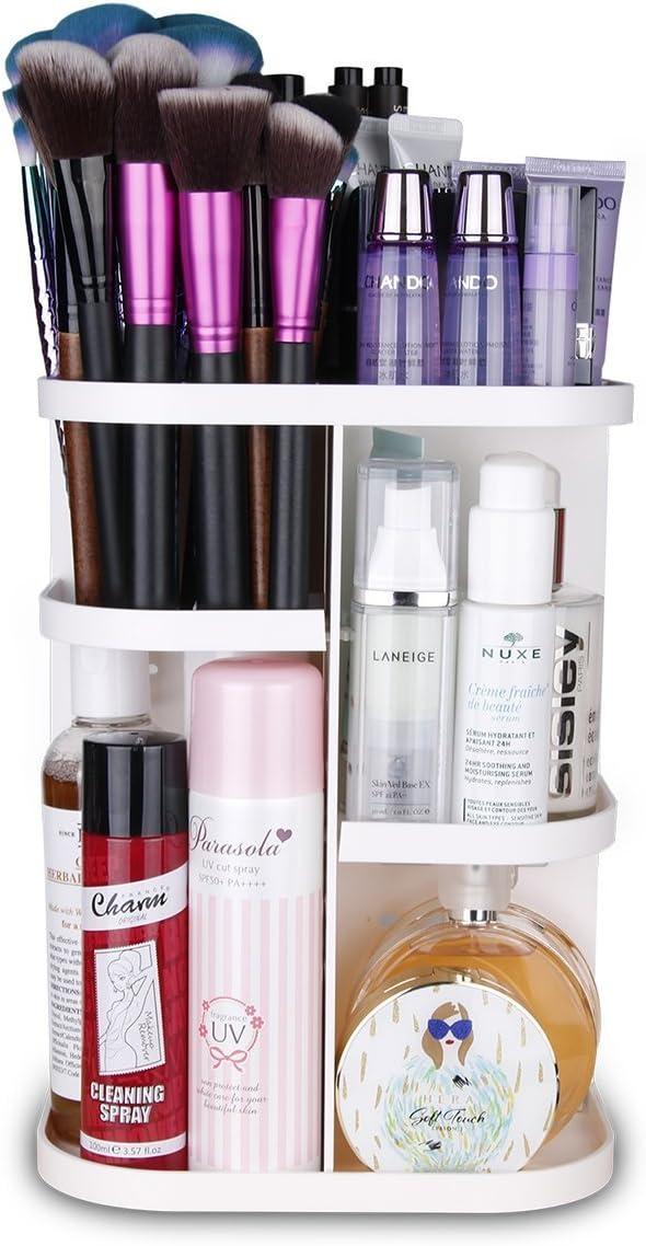 Organizador de cosméticos Herwiss con gran capacidad y rotación de ...