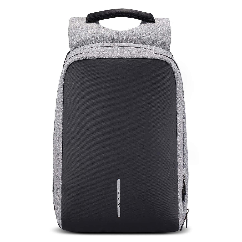 Grau Estarer Laptop Rucksack 15,6 Zoll Mit USB-Anschluss f/ür Business Uni Reise Wasserabweisend Canvas