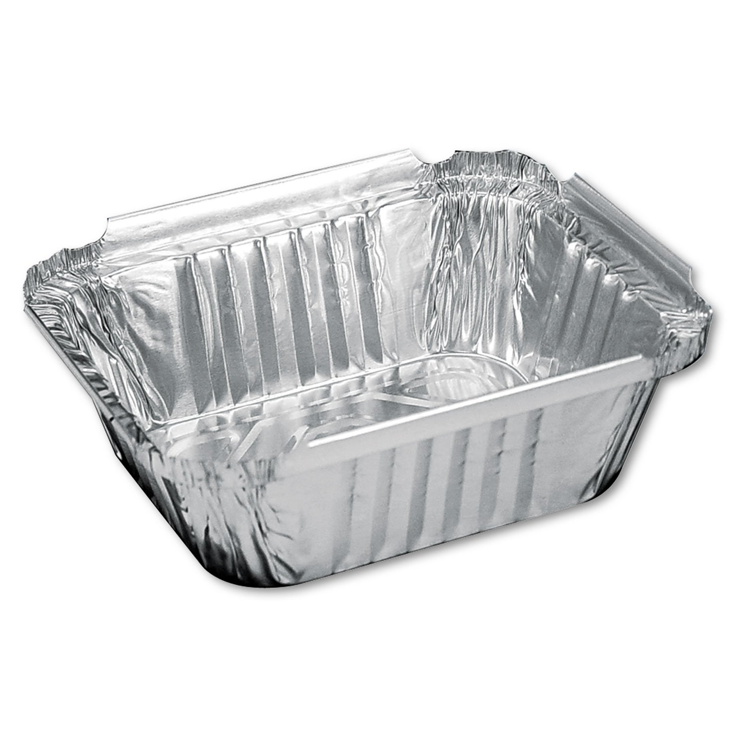 Aluminum Oblong Container, 1 Pound, 5-9/16 X 4-9/16 X 1-5/8 By: Handi-Foil of America by Office Realm