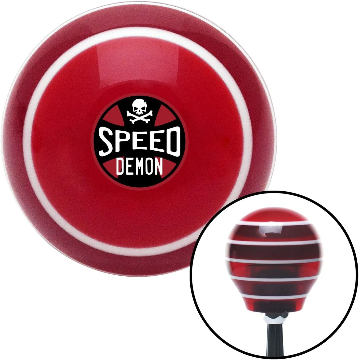 American Shifter 31502 Ivory Shift Knob with 16mm x 1.5 Insert Red I 3 Nissan