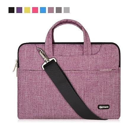 Qishare 15.6 16 Pulgadas Multifuncional portátil Hombro Bolsa maletín portátil de Ordenador portátil Caso Portador de