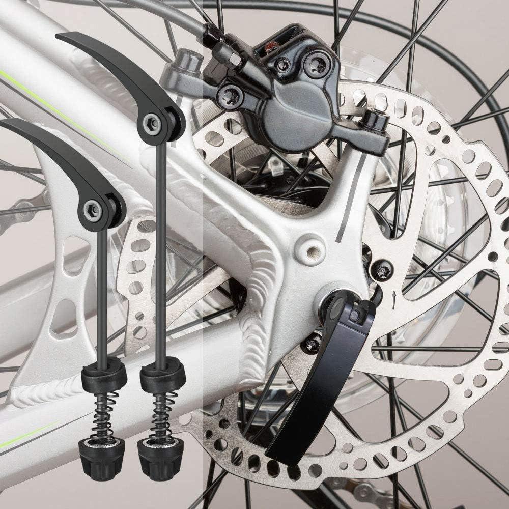 Brochetas de Bicicleta R/ápida,Bicicleta de Carretera Eje Delantero Trasero Juego Bicicleta de monta/ña CZF ES 2 Piezas R/ápida Palanca de Liberaci/ón Bicicleta BMX para Bicicleta de Carretera MTB