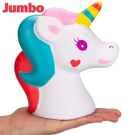 Ice.mask 1Pcs Cute Squishy Doll Unicornio en forma de espuma suave Extrusión Fragante Kawaii