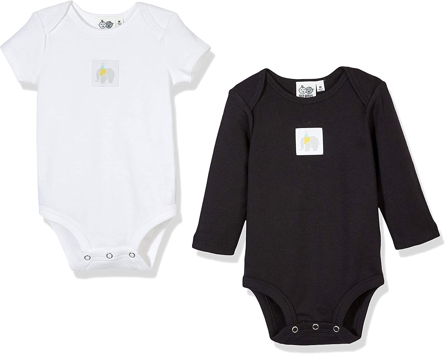 New DEFAHN Baby Bodysuit Solid Pack 2 Long Sleeve Onsies for Newborn Boys Gir..