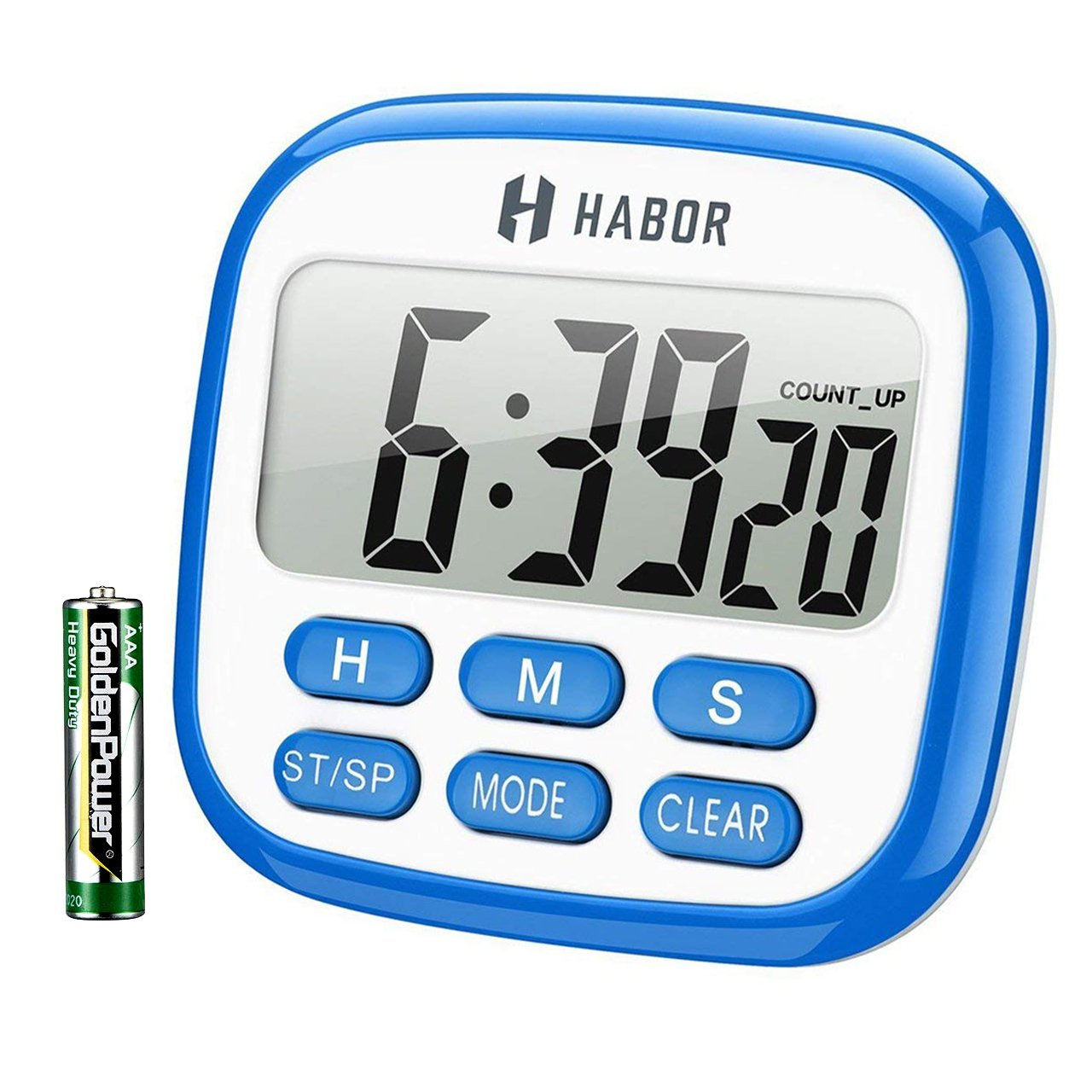 Habor Digital Kitchen Timer, Cooking Timer, Large Display, Strong Magnet  Back, Loud
