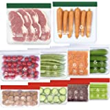 10 Bolsas de Silicona Reutilizables, Bolsas Congelar Reutilizables para Almacenamiento de Alimentos, Bolsas de conservación p