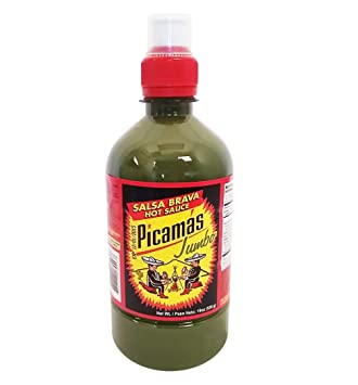 B&B Picamas Green Hot sauce 19 oz - Salsa verde picante (Pack of ...