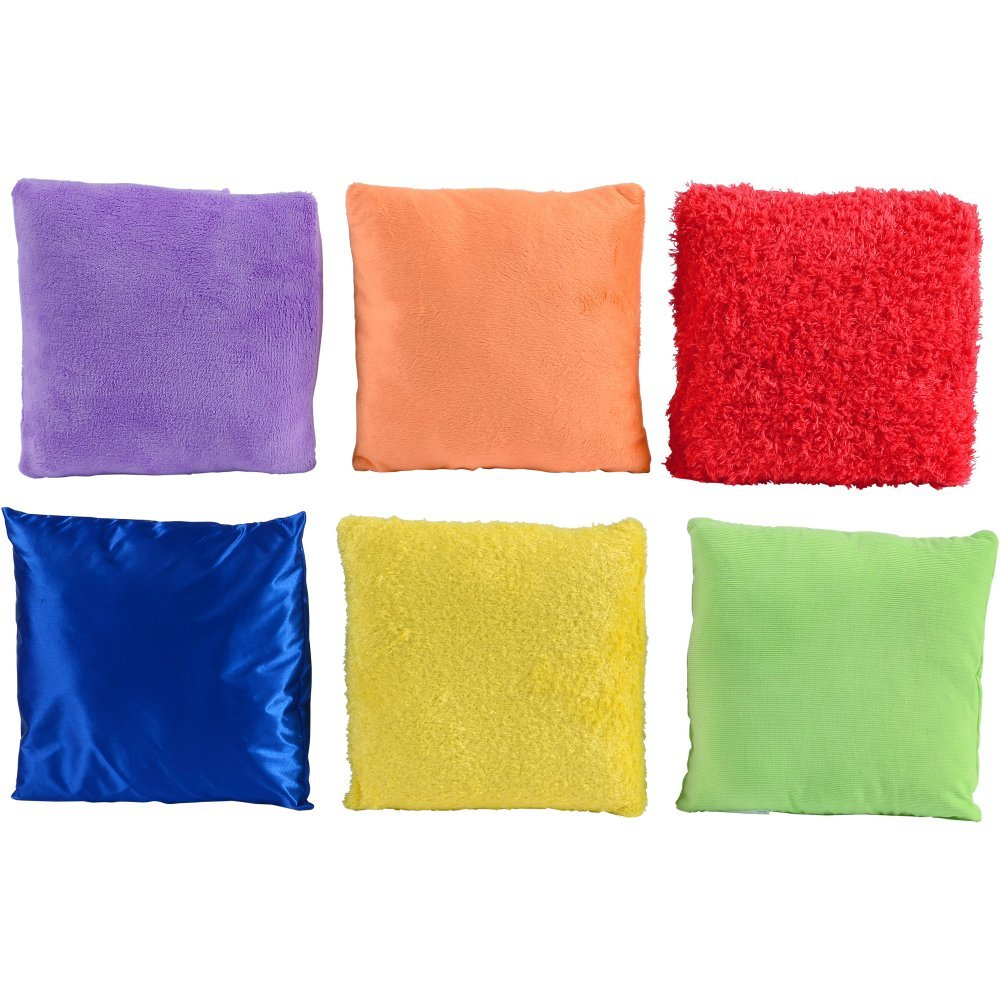 Textured Pillows Set of 6 Each with a Different Sensorial Experience
