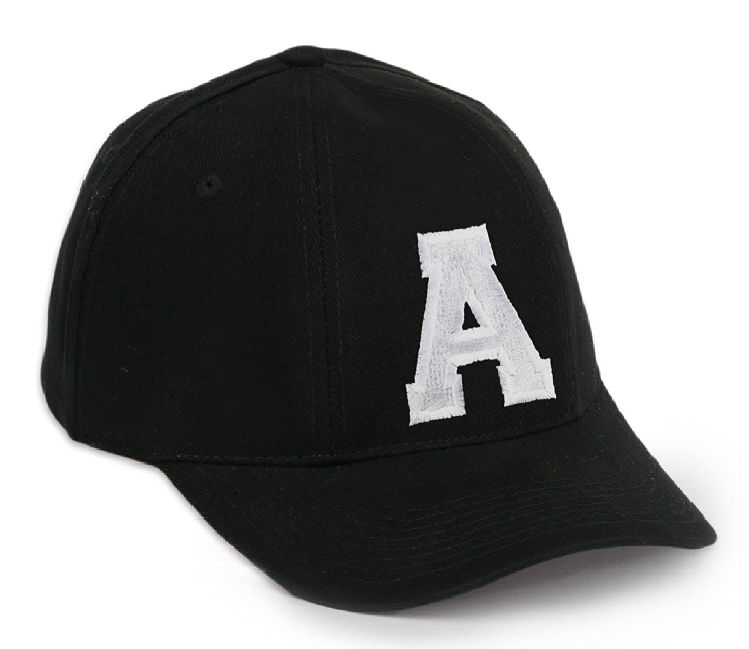 a452c52dbb622 Casual Baseball Cap A-Z Letter Alphabet Embroidered hat hats caps  adjustable strap Snap back (A) MFAZ Morefaz Ltd  Amazon.co.uk  Clothing