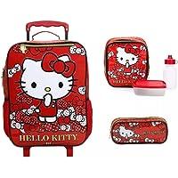 Kit Mochila Rodinhas Tam G Hello Kitty Gatinha Xeryus 2019