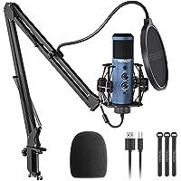 Peradix Micrófono Streaming de Condensador USB,192kHZ / 24bit Micrófono PC con Soporte, Plug & Play, Micrófonos…