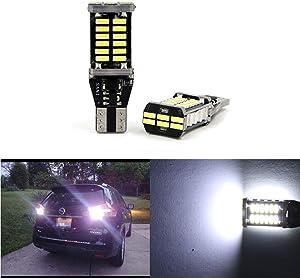 912 Reverse Light LED Backup Light Super Bright High Power 4014 30-SMD T15 906 W16W 921 Led Backup Light Bulbs, 6000K White (Set of 2)