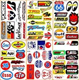 #4: Cars Motor STP Esso Gulf 76 Oil NHRA Drag Racing Lot 6 Vinyl Graphic Decals Stickers D6095