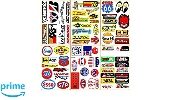 Amazon.com: Cars Motor STP Esso Gulf 76 Oil NHRA Drag Racing Lot 6 Vinyl Graphic Decals Stickers D6095: Arts, Crafts & Sewing