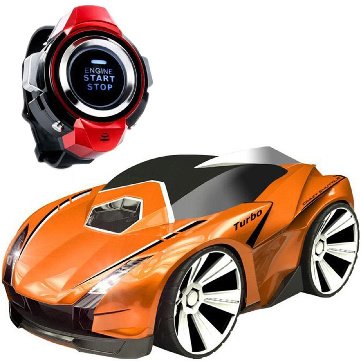 Voice Command Car, Megadream Rechargable Smart Watch Voice-activated Remote Control Toy Vehicles with Start Engine & Brake Sound, Spotlight, Drift Mode for ...