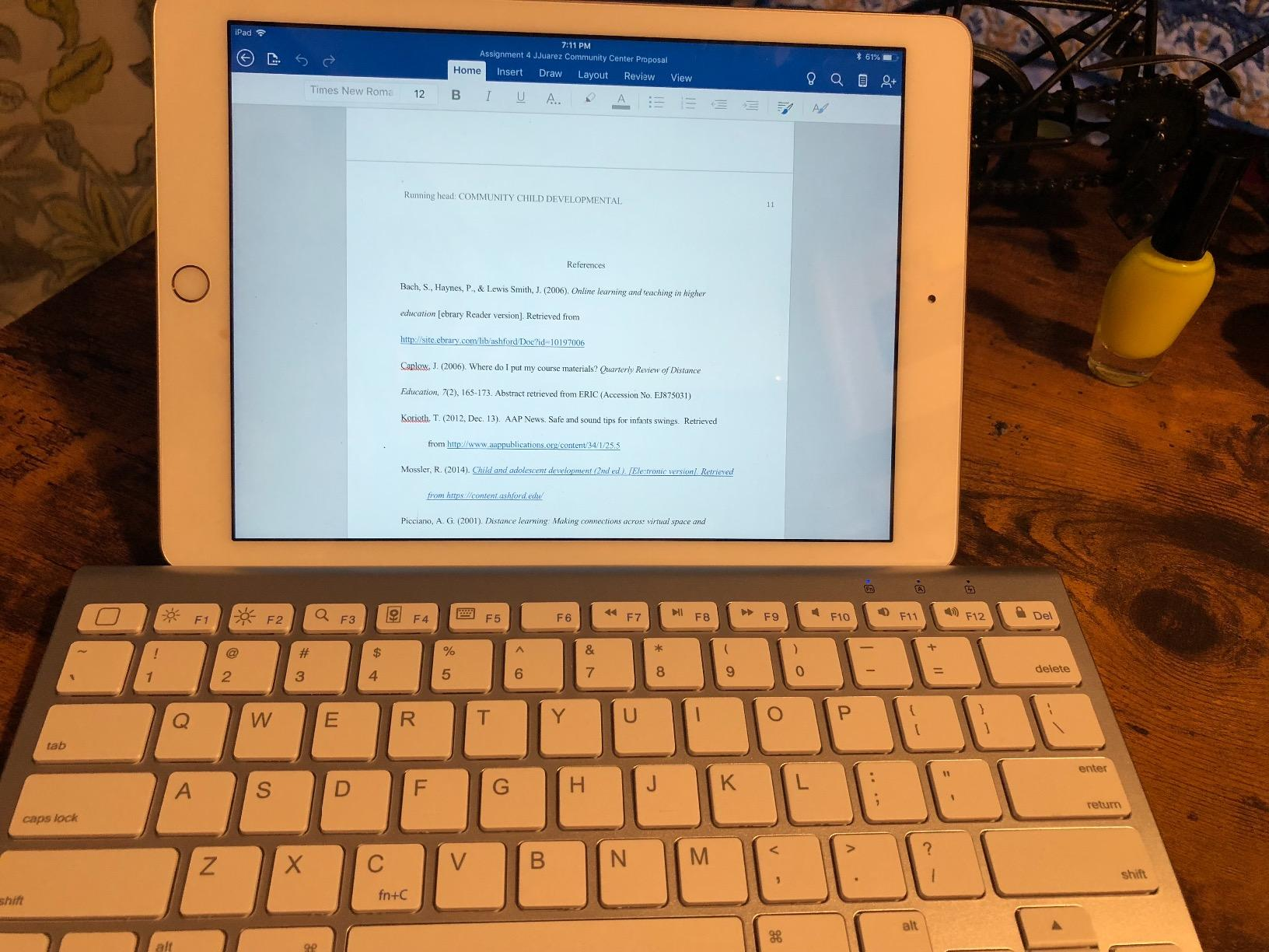 OMOTON Ultra-Slim Bluetooth Keyboard with Sliding Stand