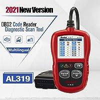 Autel AL319 OBD2 diagnoseapparaat, diagnosescanner voertuigfoutcodelezer met OBD2 / EOBD/CAN-modi voor alle auto's met…