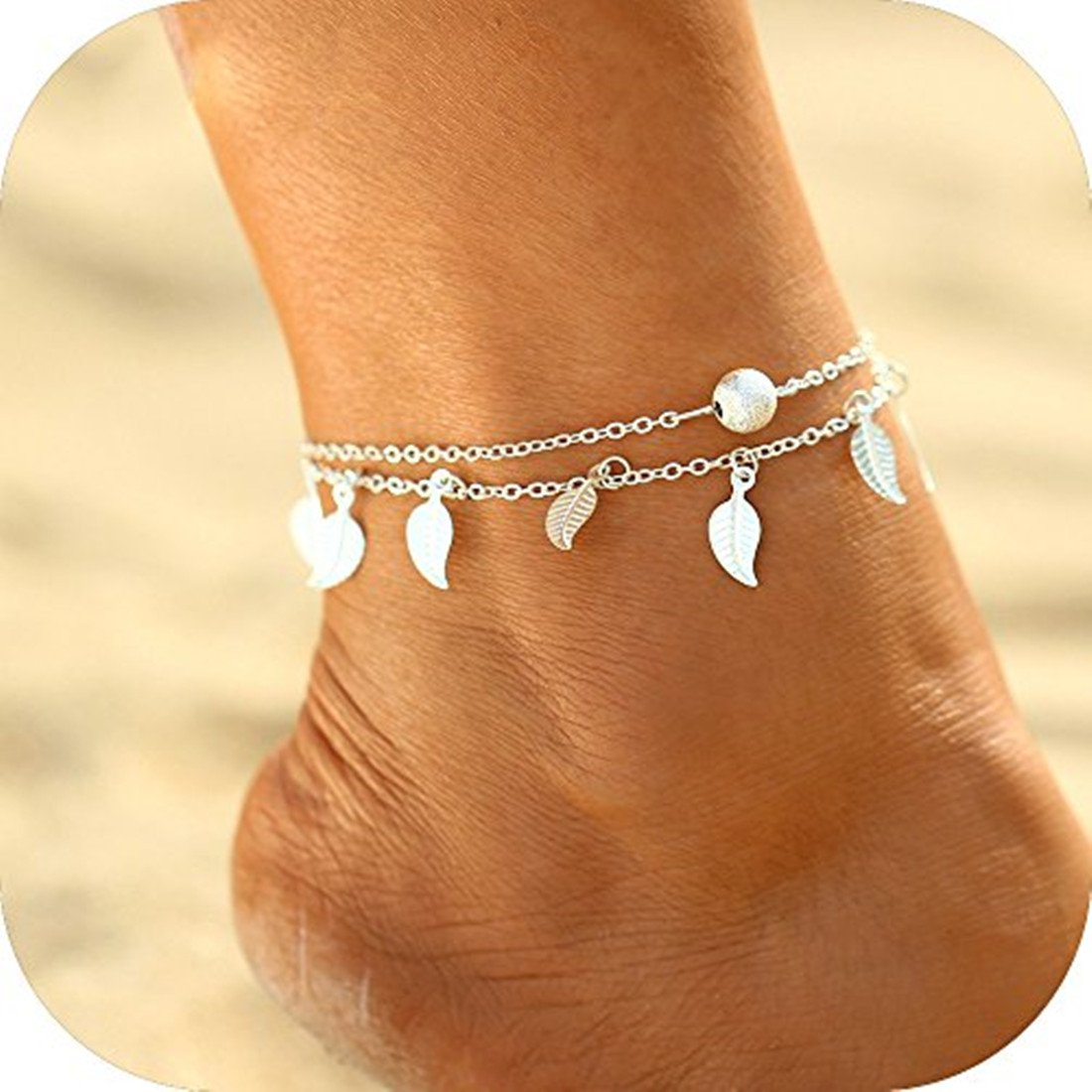 SwanElegant Anklet Ankle Foot Bracelet Chain Jewelry,Gold Sea Beach Handmade Exquisite Ankle Foot Bracelet Chain Jewelry Gifts for Women Girls