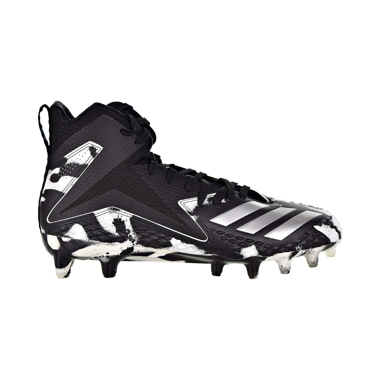 Core Black-Silver Metallic-White Adidas Freak X Carbon Mid Cleat Men's Football