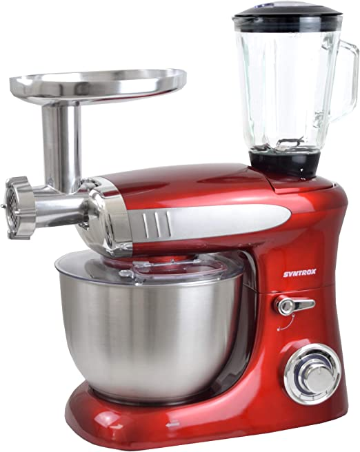 Syntrox Germany KM de 1300 W Red de Luxe Robot de cocina ...