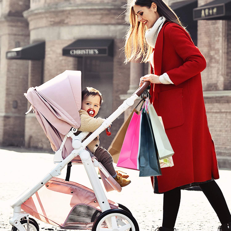 Blau 4 St/ückKinderwagen-haken buggy-haken Taschenhaken Befestigen Sie Ihre Einkaufst/üten Taschen sicher am Kinderwagen Universale Passform