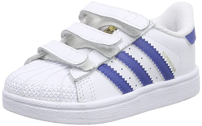 Adidas Superstar Foundation CF I, Zapatos de Primeros Pasos Unisex Bebé, Blanco/Rosa (Ftwbla/Rosfue/Ftwbla), 17 EU