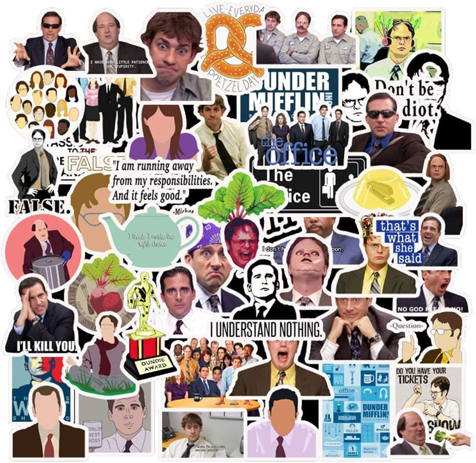 Ratgoo 50 Pcs Waterproof Vinyl Stickers of TV Show The Office to Teens Kids Men Adult Gift for Laptop Water Bottle Computer MacBook Phone Case Hydro Flask Car Bumper Bicycle Refrigerator