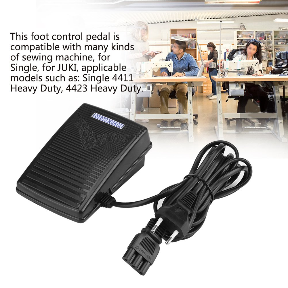 Amazon.com: 200-240V Home Sewing Machine Foot Control Pedal with Power Cord, Variable Speed Sewing Machine Pedal Controller Parts Tools