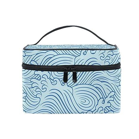 ISAOA Ocean Wave - Neceser de maquillaje (bolsa de aseo ...