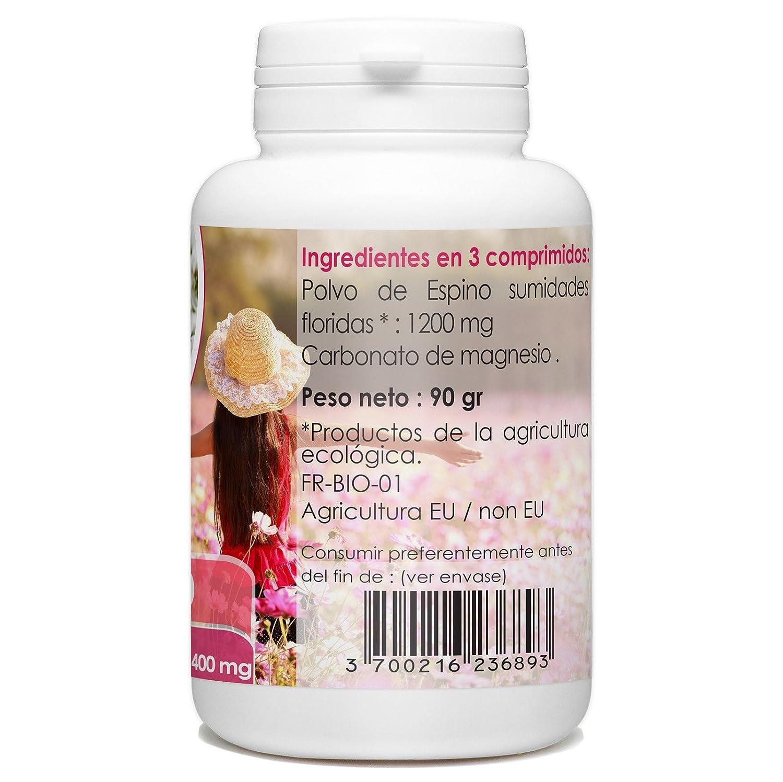 Espino Blanco Orgánico 400mg - 200 comprimidos: Amazon.es: Salud y cuidado personal
