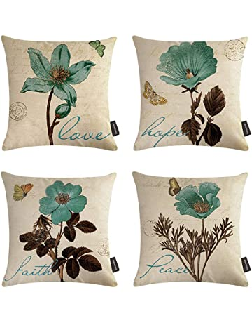 Home Textile Deer Santa Claus Snowflake Cushion Covers Merry Christmas Gift Pillows Meditation Decorator Red Dog Throw Pillows 45x45cm Linen Home & Garden