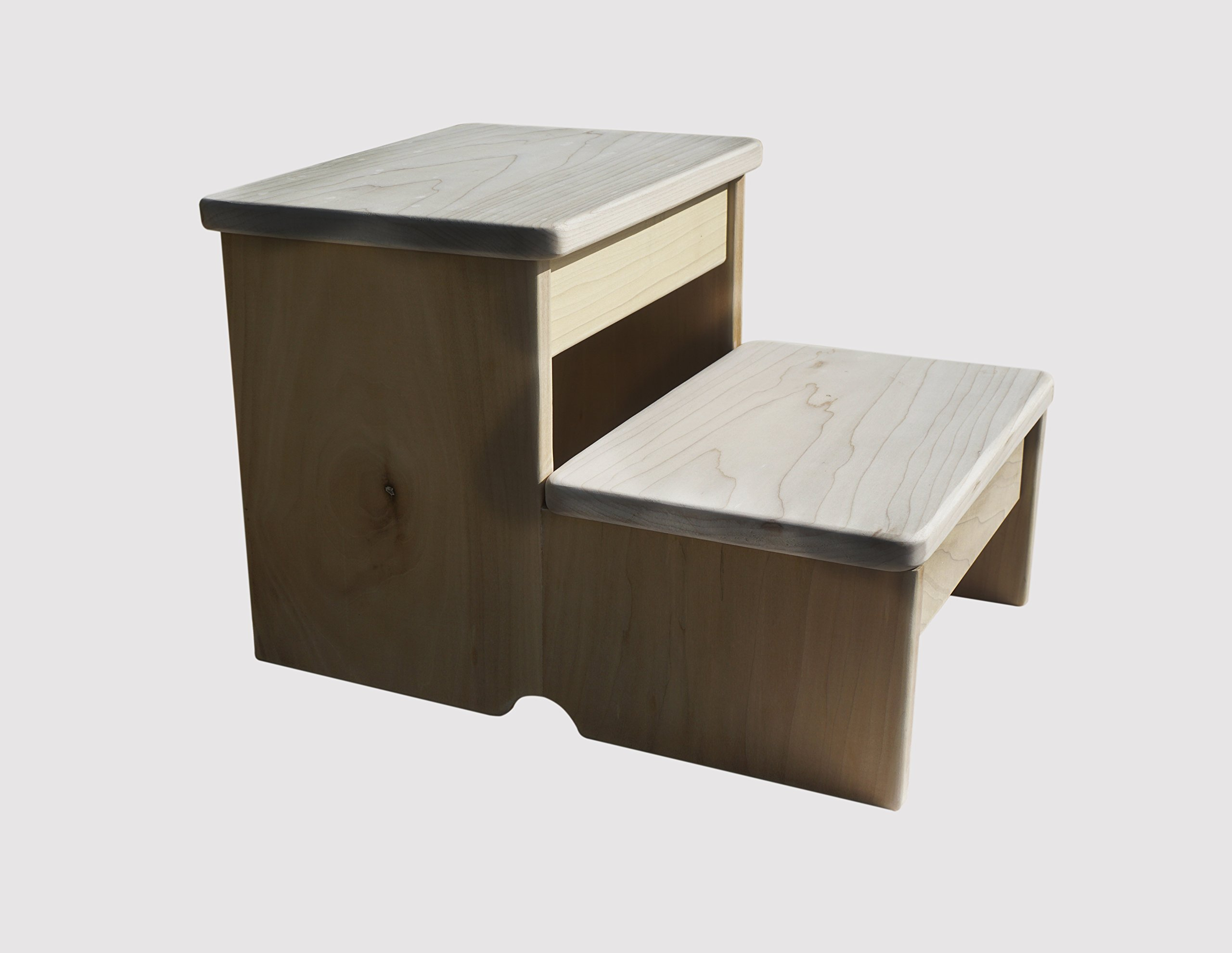 Standard 2-Step Stool (Made in the USA) (Unfinished)