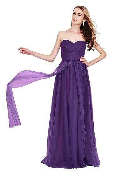 90a129eeb78 Angel Star New Long Convertible Multi Way Prom Bridesmaid Dresses UK   Amazon.co.uk  Clothing