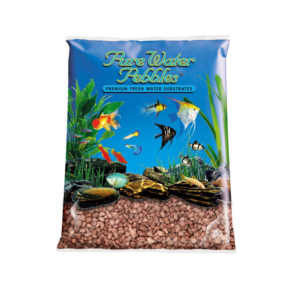 Pure Water Pebbles Aquarium Gravel, 25-Pound, Cocoa Brown by Pure Water Pebbles