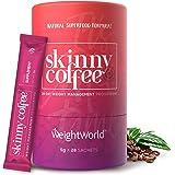 Skinny Coffee, Café Instantáneo Control del Peso Programa de 28 días - Café Árabe, Granos Café Verde, Ginseng, Chlorella…