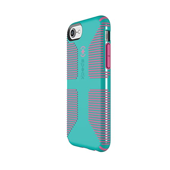 check out 31589 b47bd Speck Products CandyShell Grip Cell Phone Case for iPhone 8/7/6S/6 -  Caribbean Blue/Bubblegum Pink
