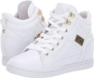 09da92b4d5 Amazon.com | G by GUESS Women's Dayna White 8 M US M | Shoes